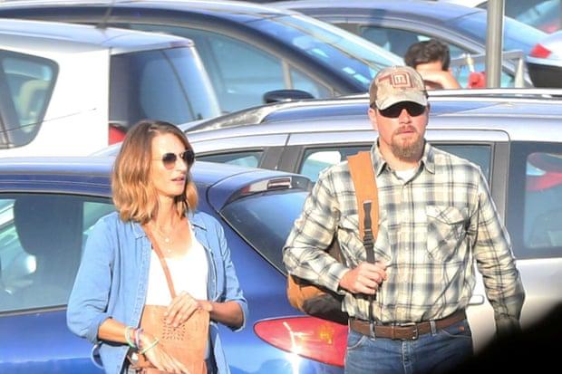 Camille Cottin et Matt Damon sur le tournage du film Stillwater