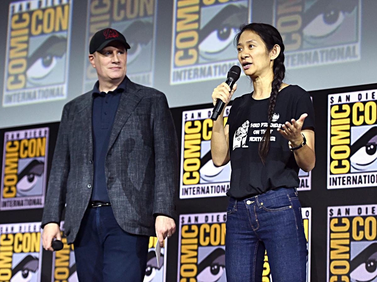 Chloé Zhao et Kevin Feige