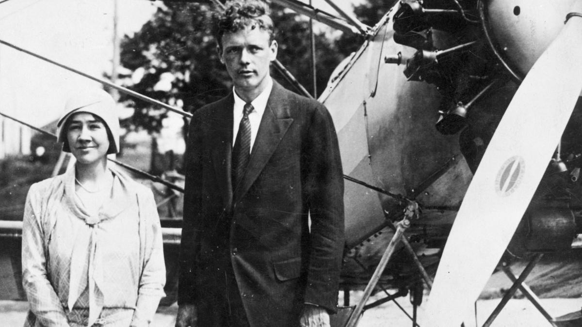Charles Lindbergh et sa femme Anne Morrow