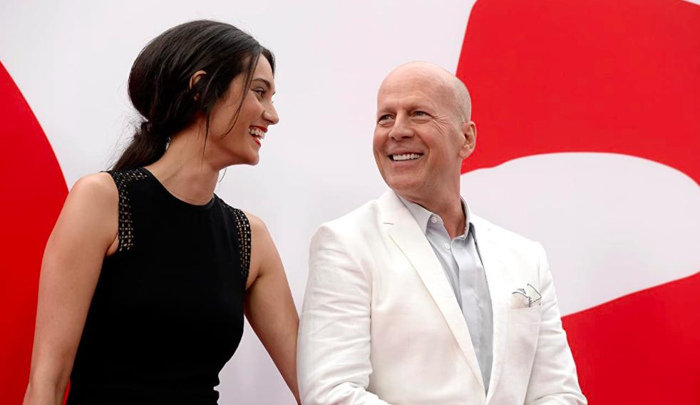 Emma Heming et Bruce Willis à l'avant-première de Red 2
