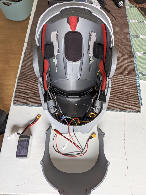Intérieur casque Iron Man